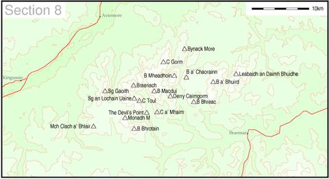 Liste over Munroer, seksjon 8