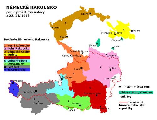 Rozsah Německého Rakouska