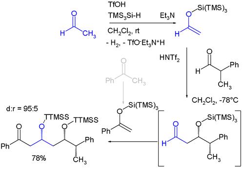 超级硅基团在非对映选择性合成中的应用