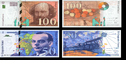 50 and 100 francs