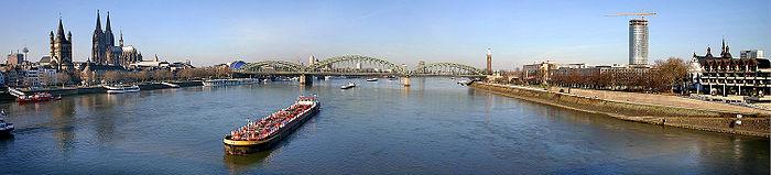 Köln - Vedere panoramică de pe podul Deutz