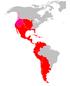 Map of Spanish America
