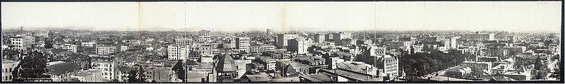 Panorama da cidade de Los Angeles, em 1908.