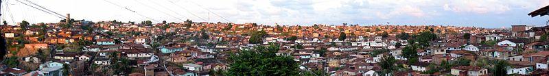 Panorama do Morro da Conceição, Zona Norte da cidade.