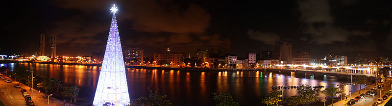 Panorama do Recife no natal 2010.