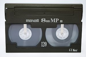 A Video8 cassette.