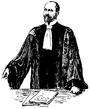 Advokat, Fransk advokatdräkt, Nordisk familjebok.png