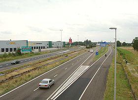 La E19 près d'Hazeldonk aux Pays-Bas
