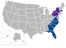 Atlantic Coast Conference locations