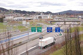 La E60 à Saint-Gall en Suisse