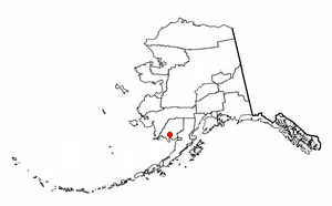 Location of Aleknagik, Alaska
