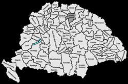 Location of Abaúj-Torna