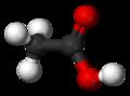Représentation 3D de l'acide acétique