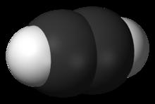 Structure tridimensionnelle de l'acétylène