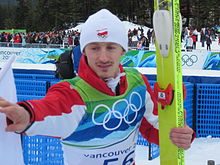 Adam Małysz at the 2010 Vancouver Winter Olympics.jpg