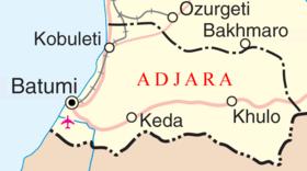 Detailed map of Adjara