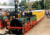 Replica eerste locomotief in Duitsland, type Stephenson Patentee