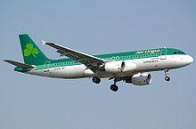 Een Airbus A320 van Aer Lingus