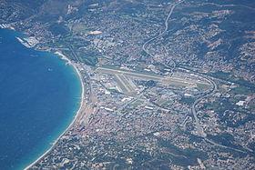 vue aérienne de l'aéroport