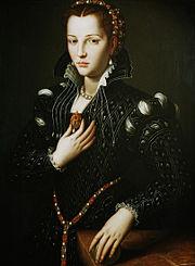 Agnolo Bronzino, ritratto di Lucrezia de' Medici.JPG
