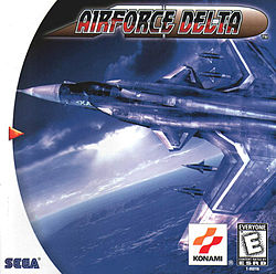 Airforce Delta box cover (Dreamcast)