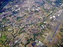 Vue aérienne d'Alajuela