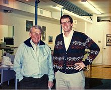Alan H. Tripp in 1993 with William Hewlett, an early mentor and investor in SCORE!