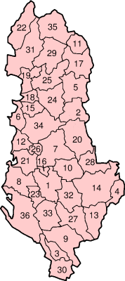 Districts of Albania.