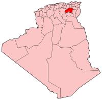 Carte d'Algérie (Wilaya d'Batna)