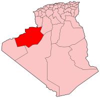Carte d'Algérie (Wilaya de Béchar)