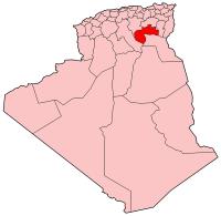 Carte d'Algérie (Wilaya de Biskra)