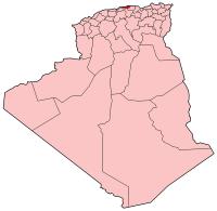 Carte d'Algérie (Wilaya de Boumerdès)