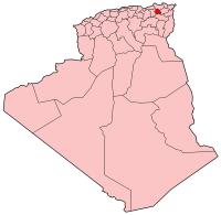 Carte d'Algérie (Wilaya de Constantine)