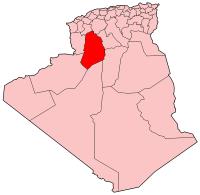 Carte d'Algérie (Wilaya d'El Bayadh)