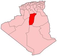 Carte d'Algérie (Wilaya de Ghardaïa)