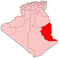 Carte d'Algérie (Wilaya d'Illizi)