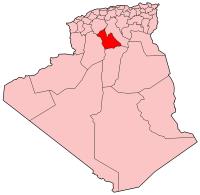 Carte d'Algérie (Wilaya de Laghouat)