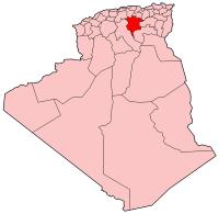 Carte d'Algérie (Wilaya de M'SilaAnnaba)