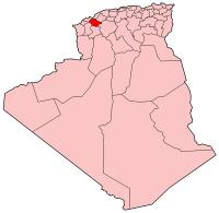 Carte d'Algérie (Wilaya de Mascara)