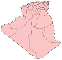 Carte d'Algérie (Wilaya de Mostaganem)