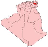 Carte d'Algérie (Wilaya de Oum El-Bouaghi)