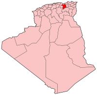 Carte d'Algérie (Wilaya de Sétif)