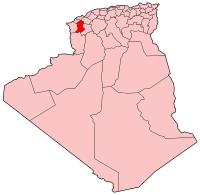 Carte d'Algérie (Wilaya de Sidi-Bel-Abbès)