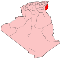 Carte d'Algérie (Wilaya de Tébessa)