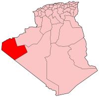 Carte d'Algérie (Wilaya de Tindouf)