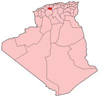 Carte d'Algérie (Wilaya de Tissemsilt)