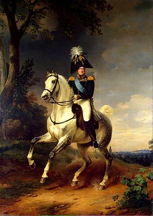 The Tsar mounted on his horse