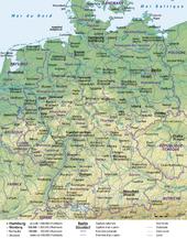 carte: Géographie de l'Allemagne