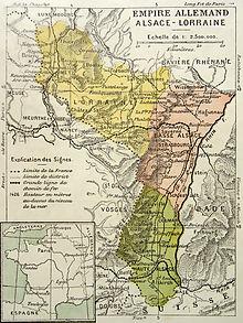 Location of Alsace-Lorraine