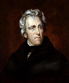 Portrait d'Andrew Jackson premier gouverneur militaire de Floride.